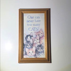 Cat wall decor adorable kittens